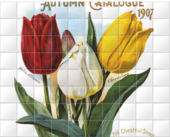 'Dreer's Autumn Catalogue' Ceramic Tile Mural