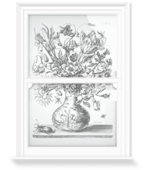 'Bouquet in a Vase' Decorative Window Film
