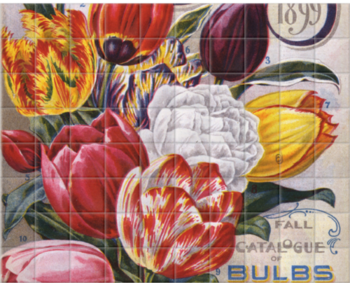 'Mayflower Tulips' Ceramic Tile Mural