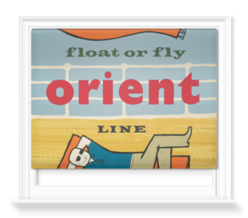 'Float or fly with Orient Line' Roller Blind
