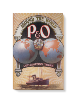 'Around the World with P&O' Canvas Wall Art