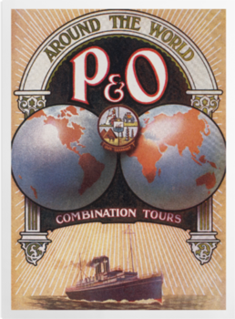 'Around the World with P&O' Art Prints