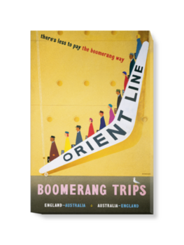 'Boomerang fares to and from Australia' Canvas Wall Art