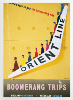 'Boomerang fares to and from Australia' Art Prints