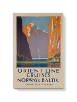 'Cruises to Norway and the Baltic' Canvas Wall Art