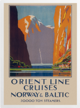 'Cruises to Norway and the Baltic' Art Prints