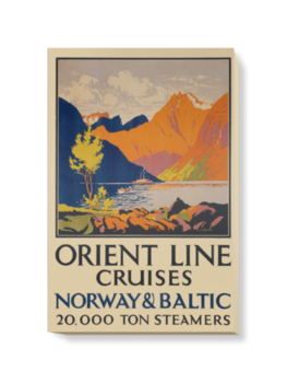 'Orient Line to Norway' Canvas Wall Art