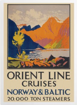 'Orient Line to Norway' Art Prints