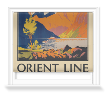 'Orient Line to Norway' Roller Blind
