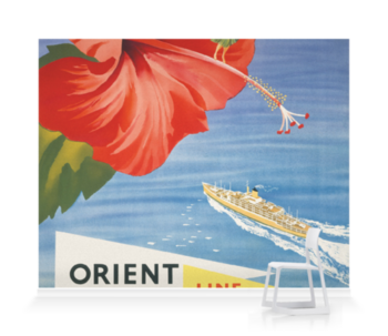 'Orient Line Trans Pacific' Wallpaper Mural