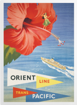 'Orient Line Trans Pacific' Art Prints