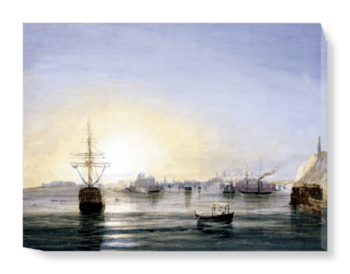 'Valetta viewed from a P&O Steamer' Canvas Wall Art
