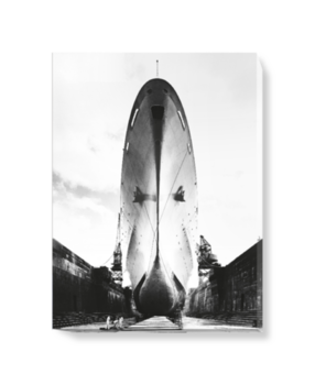 'Canberra in King George V dry-dock, Southampton' Canvas Wall Art
