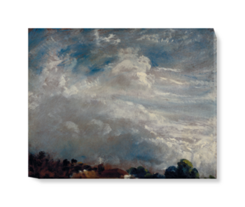 'Cloud Study: Horizon of Trees' Canvas Wall Art