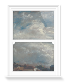 'Cloud Study: Horizon of Trees' Decorative Window Film