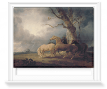 'Horses in a Thunderstorm' Roller Blind