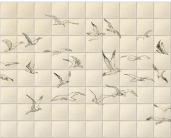 'Studies of Birds' Ceramic Tile Mural