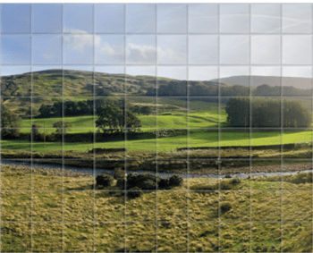 'Mellor Knoll and Totridge Fell' Ceramic Tile Mural