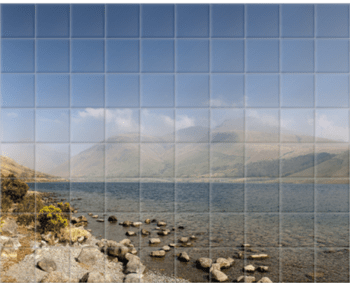'Wastwater and Scafell Pike' Ceramic Tile Mural
