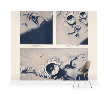 'Moon crater' Wallpaper Mural
