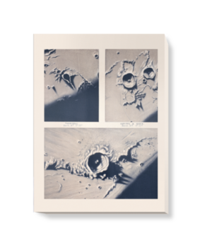 'Moon crater' Canvas Wall Art