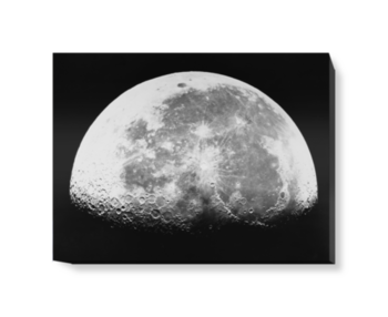 'Transparency, 12x10 - Moon, last quarter' Canvas Wall Art