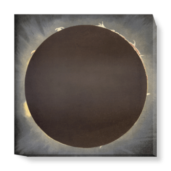 'An eclipse, 1862' Canvas Wall Art