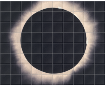 'Eclipse of the Sun, 7 August 1869' Ceramic Tile Mural