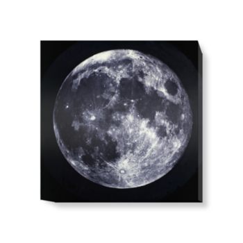 'Full Moon, between 1858 and 1862' Canvas Wall Art