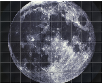 'Full Moon, between 1858 and 1862' Ceramic Tile Mural