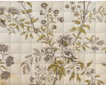 'Woodblock Floral' Ceramic Tile Mural