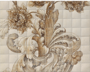 'Efflorescent' Ceramic Tile Mural