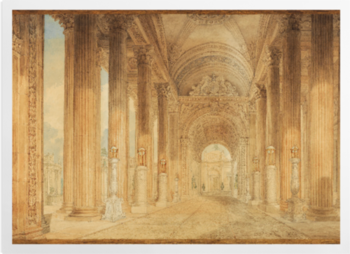 'View in the Portico' Art Prints