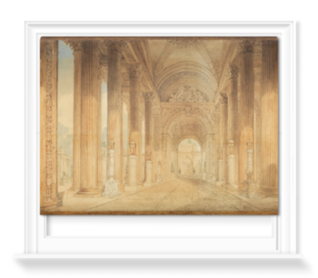 'View in the Portico' Roller Blind