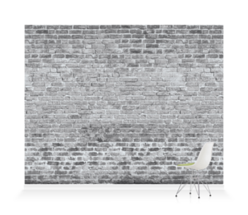 'Brickwork Dove Grey' Wallpaper murals