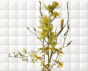 'Orchids I' Ceramic Tile Mural