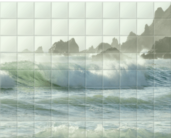 'Coastal Rush' Ceramic Tile Mural