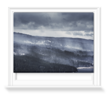 'Winter Forest Fog' Roller Blind