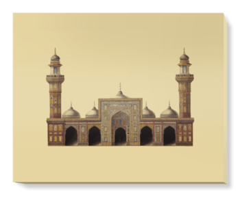 'Drawing of the Mosque of Wazir Khan ' Canvas Wall Art