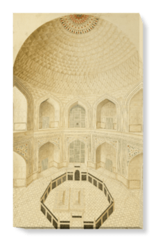'Interior of the Tomb' Canvas Wall Art