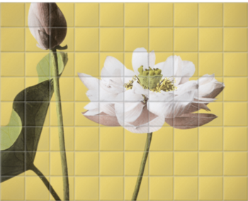 'Lotus' Ceramic Tile Mural