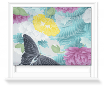 'Butterflies and Chrysanthemums' Roller Blind