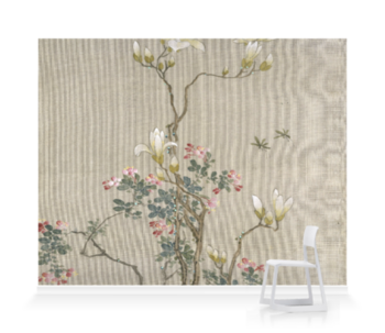 'Flowering Shrubs & Mayflies' Wallpaper Mural