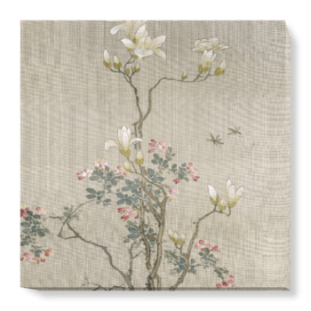'Flowering Shrubs & Mayflies' Canvas Wall Art