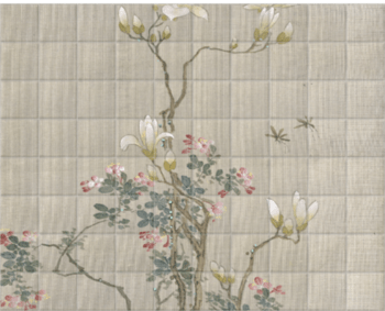 'Flowering Shrubs & Mayflies' Ceramic Tile Mural