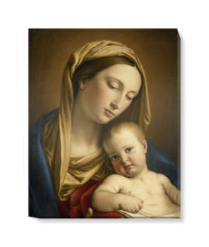 'Virgin and Child' Canvas Wall Art
