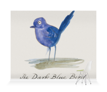 'The Dark Blue Bird' Wallpaper Mural