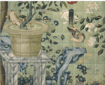'Panel of Wallpaper I' Ceramic Tile Mural