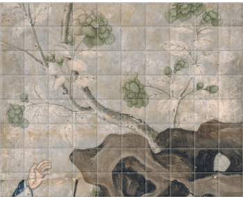 'Panel of Wallpaper II' Ceramic Tile Mural