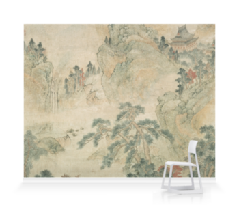 'Ming Mountain Scroll' Wallpaper Mural
